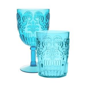 Zara Home turquoise glasses