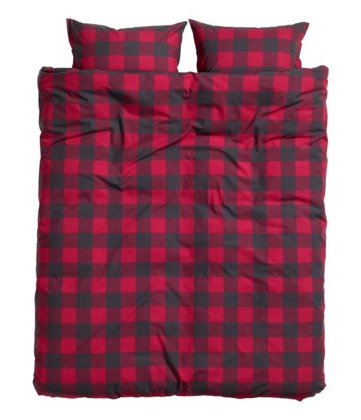 H&M check bedding