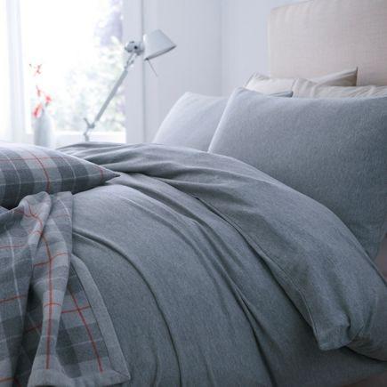 Linea grey jersey bedding
