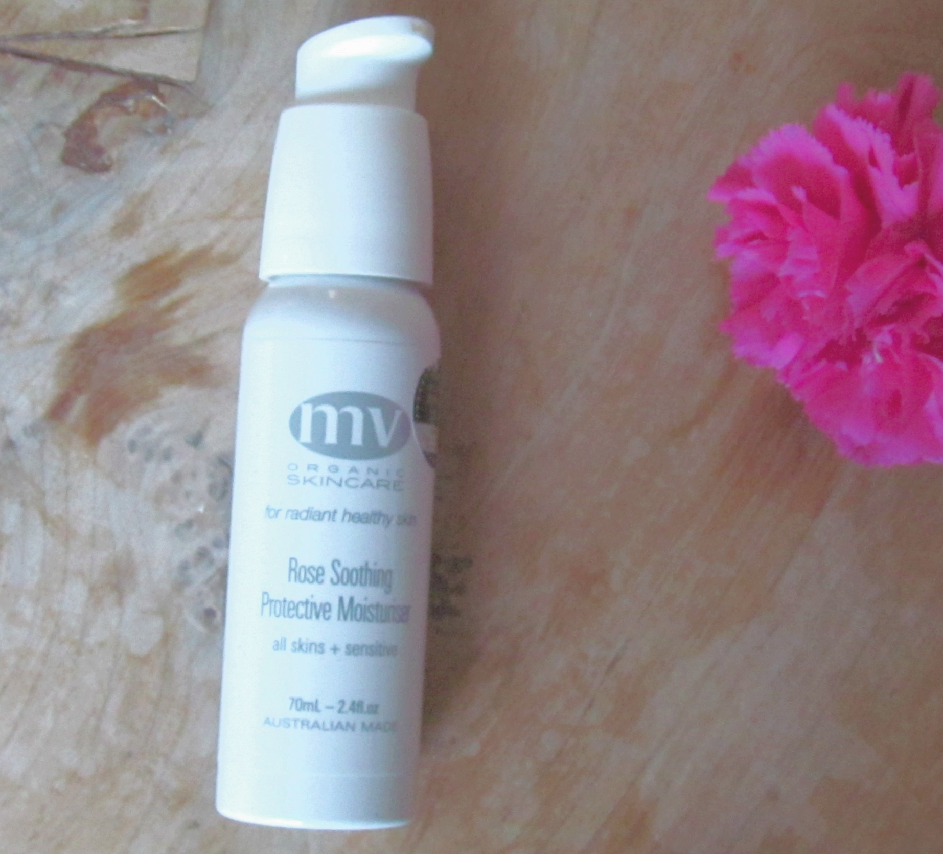 Pay day treat: MV Organics Rose Soothing Protective Moisturiser