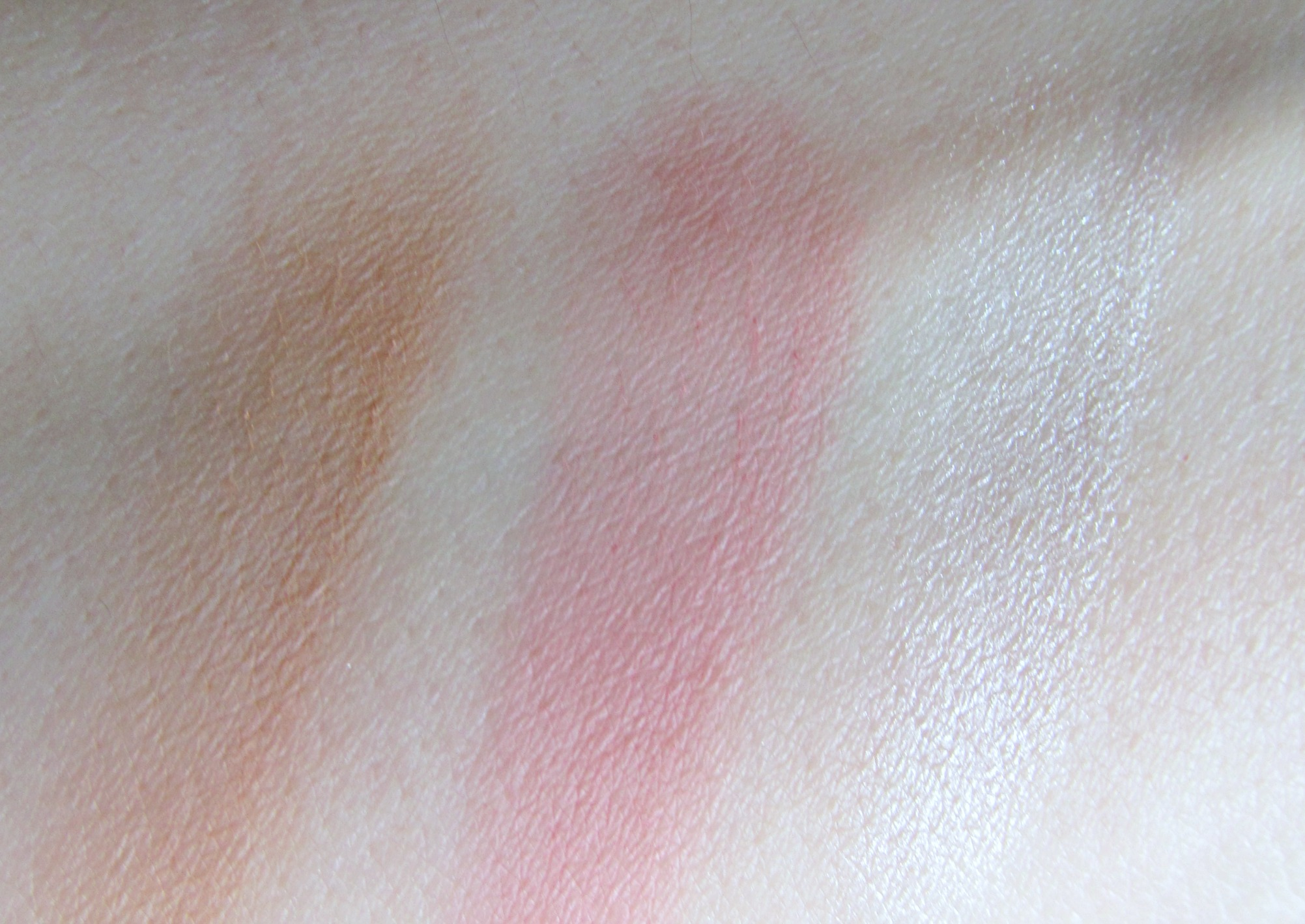 Cheek swatches