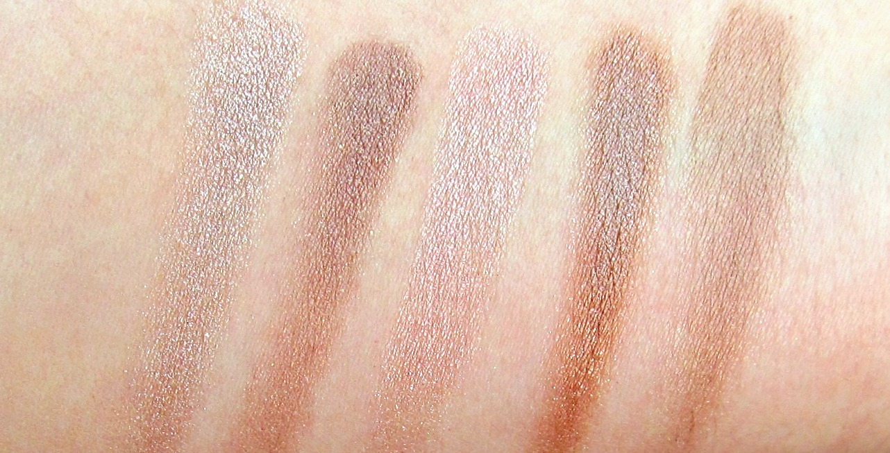 Everyday eye shadow swatches