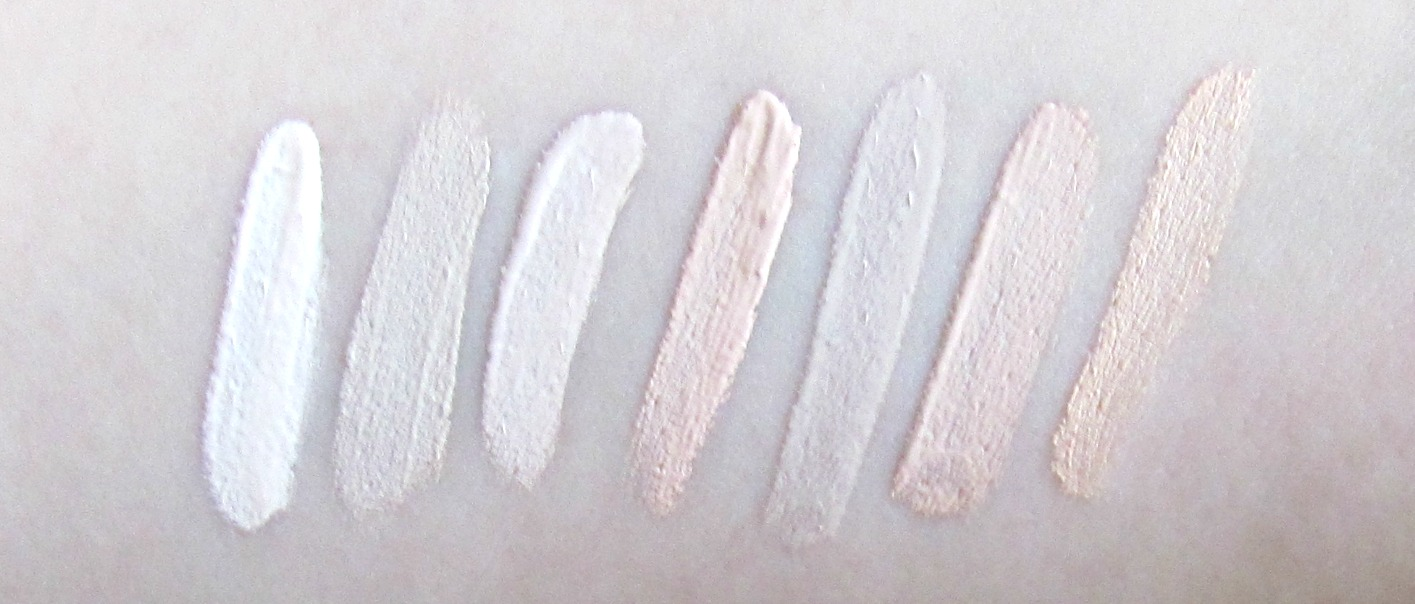 Pale concealer swatches 1